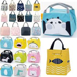 Lunch Bags Women Kids Portable Thermal Insulated Picnic Tote