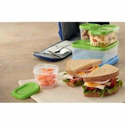 Rubbermaid Lunch Blox Kits 2 cups 1 Sandwich Kit 1 Salad Kit