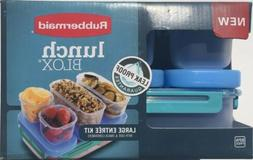 Rubbermaid Lunch Blox Large Entree Kit with Side & Snack Con