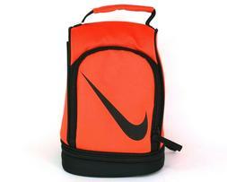 Nike Lunch Box,Bag Tote Orange/Black School 2 Compartment In