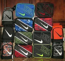 Nike Lunch Box School Bag Black Grey Camo Red Geo Orange Vol
