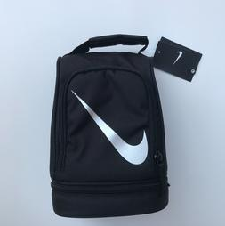 Nike Lunch Box Black Two Compartments With Zipper Insulated