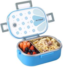 Lunch Box Containers 2 Compartments with Removable Divider,