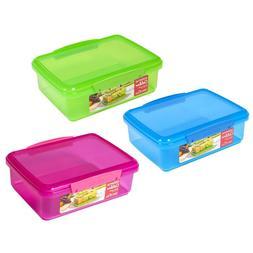 Sistema Lunch Box Microwaveable School Kids Plastic Meal Con