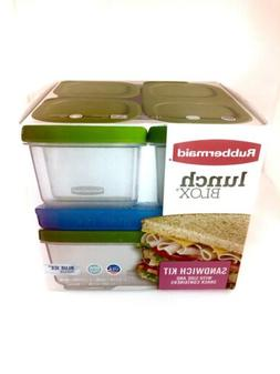 Rubbermaid Lunch Box Sandwich Kit with Side Containers Stack