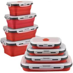 Lunch Box Silicone Container Collapsible Food Storage Bento