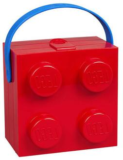 LEGO Lunch Box With Blue Handle, Bright Red, Ages 5+