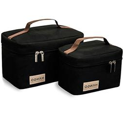 Lunch Boxes for Adults Bottle Cooler Bag Insulated Women Man