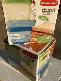 Rubbermaid Lunchblox Kids Tall Lunch Bag Kit, Purple/Pink/Gr