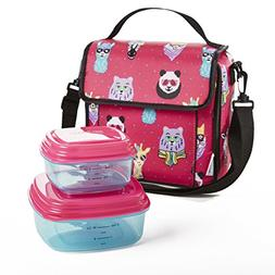 Fit & Fresh Marlowe Lunch Kit with BPA-Free Container Set fo