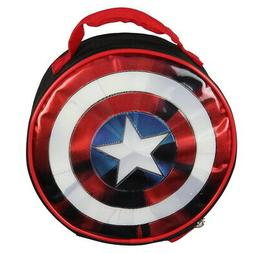 Marvel Captain America Shield Shiny Insulated Lunch Box Bag
