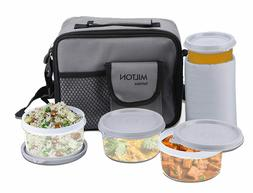 Milton Meal Combi Plastic Lunch Box Set with Water Glass, Gr