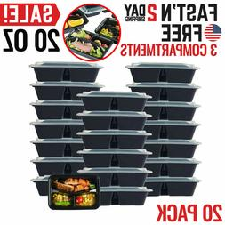 Meal Prep Containers Food Storage Bento Lunch Box Plastic Co
