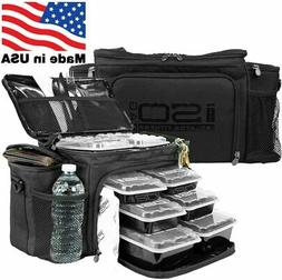 Meal Prep Lunch Box ISOBAG  Large Insulated 6 Meal Prep Bag/