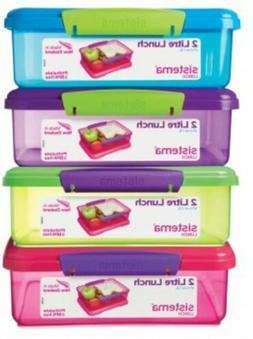 Sistema Medium Plastic Kids School Sandwich Lunch Box Food S