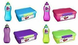 Sistema Medium Plastic Kids School Sandwich Lunch Box With 4