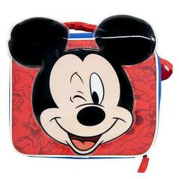 """Mickey Mouse """"With Ears"""" Rectangle Lunch Bag with Strap"""