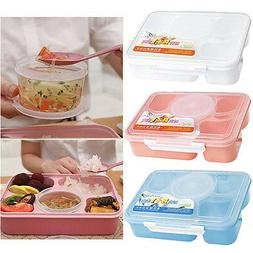 Microwave Bento Lunch Box  Picnic Food Fruit Container Stora
