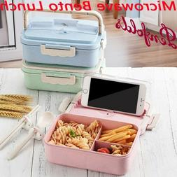 Microwave Bento Lunch Box Picnic Food Fruit Container Storag