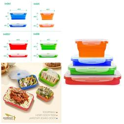 Collapsible Kitchen Storage Containers Freezer and Microwave