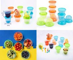 Mindable Small Lunch Box Plastic Food Containers for Kids, 1