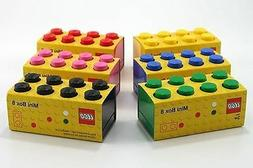 Mini Lego Storage 8 Brick 6 Colours Kids Small Snacks Sweets