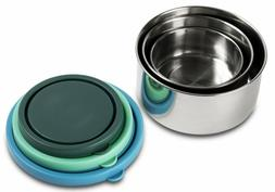 MIRA Set of 3 Stainless Steel lunch box and food storage con