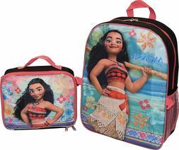 Disney Moana Princess Girls School Backpack Lunch Box Book Bag Set