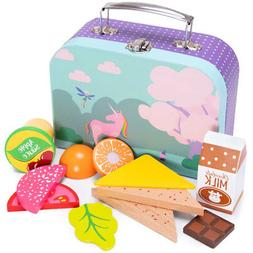 Mythical Unicorn Lunch Box Playset | Wood Eats! Pretend Play
