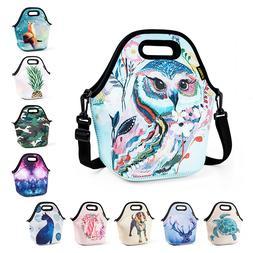 Neoprene Lunch Bag for Girls Kids Waterproof Large Food Insu
