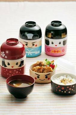 NEW Anime Bento box Kokeshi Maiko collection Geisha Doll Lun