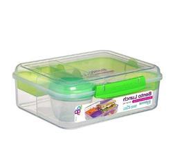 New! Sistema Bento Lunch box To Go, green Lunchbox fruit yog