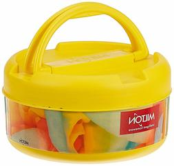 Milton New Brunch Plastic Lunch Box, 590ml, Yellow With Free