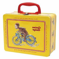 NEW Curious George Tin Lunch Box School Lunchbox Yellow Meta