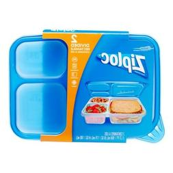 NEW Ziploc DIVIDED Rectangle Food Storage Lunch Box Containe