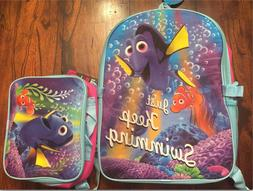 NEW DISNEY FINDING DORY BACKPACK AND LUNCHBAG LUNCH BOX SET