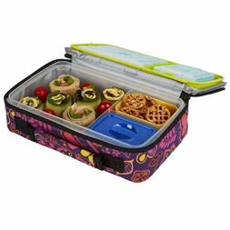 New Fit Fresh Insulated Bento Box Lunch Kit, Woodstock Free