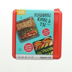 New Fit + Fresh Sandwich & Snack With Ice Pack Divided Tray