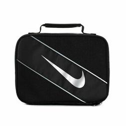 NEW - Nike - Insulated Lunchbox, Black With Silver Swoosh -