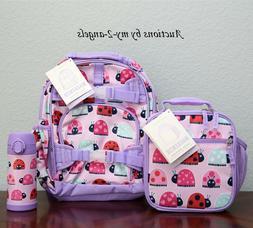 NEW Pottery Barn Kids LADYBUG Small Backpack + Lunch Box Bag