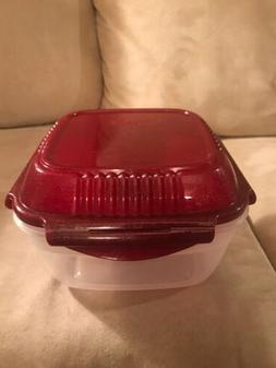 NEW Lock & Lock Large Salad Lunchbox with Dressing Bowl/Tray