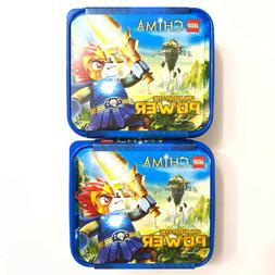 NEW Lot of 2 LEGO Chima Unleash The Power Blue Plastic Lunch