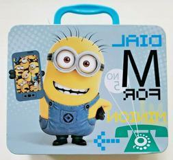 New Minions Movie Lunch Box Tin Universal Studios Despicable
