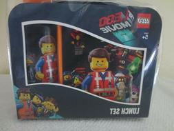 NEW THE LEGO MOVIE LUNCH BOX AND DRINK BOTTLE/ WATER SET