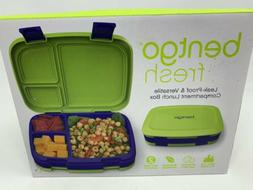 NIB Bentgo Fresh Blue Lime Green Leak-proof Bento  Lunch Box
