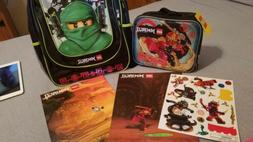 Lego Ninjago Backpack Lunchbox Folders And Stickers Lot