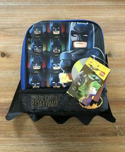 NWT Lego Batman Dual Compartment Insulated Lunch Box with Bo