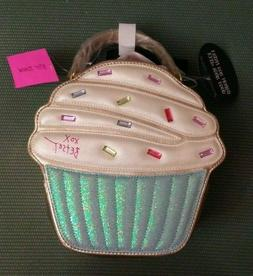 NWT Betsey Johnson Cupcake Insulated Lunch Box Tote Bag Cros