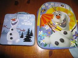"""NWT Disney Frozen OLAF 10"""" Mini Toddler Dome Backpack and Ti"""