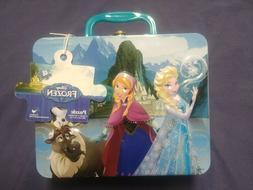 NWT Disney Frozen Princess Elsa Anna Tin Lunchbox Box Contai